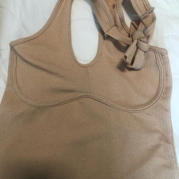 PLT mini tan dress
